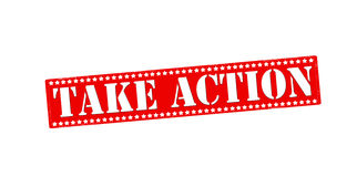 Take action. Rubber stamp with text take action inside,  illustration Royalty Free Stock Images