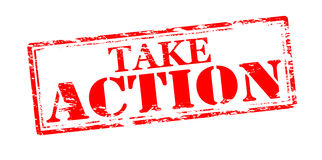 Take action. Rubber stamp with text take action inside,  illustration Royalty Free Stock Photography