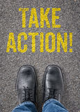 Take action Royalty Free Stock Image