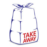 Take away bento box Royalty Free Stock Photography