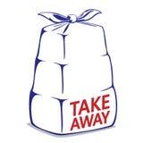 Take away bento box Royalty Free Stock Photography