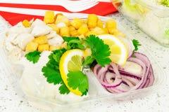 Take away Caesar salad Royalty Free Stock Image