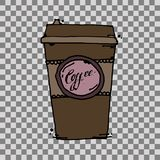 Take away coffee cup stock illustration