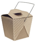 Take Away Container in Cardboard Royalty Free Stock Photo