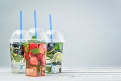 Take away drinks concept. stock images
