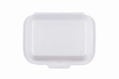 Take away fast food packaging on white background Royalty Free Stock Image