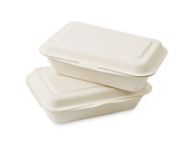 Take away food boxes made of paper Stock Photo
