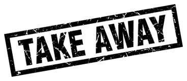 Take away stamp. Take away grunge vintage stamp isolated on white background. take away. sign stock illustration