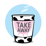 Take away milk cup Royalty Free Stock Photography