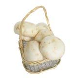 Take away mushrooms. Mushrooms in a basket Royalty Free Stock Photos