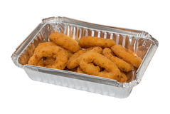 Onion Rings to take away Stock Photography