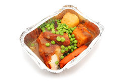 Take away pack of roasted chicken Stock Photo