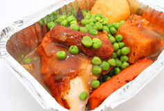 Take away pack of roasted chicken Royalty Free Stock Photography