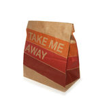 Take away paper bag Stock Images