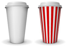 Take-away paper cup Stock Image
