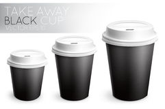 Take away paper cup black Royalty Free Stock Photos