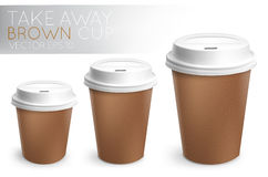 Take away paper cup brown Royalty Free Stock Photo