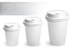 Take away paper cup white Stock Photography