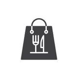 Take away paper food bag icon vector Royalty Free Stock Image