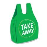 Take away plastic bag Royalty Free Stock Photos