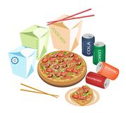 Delivery Food For Take Away to Home Stock Photo