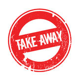 Take Away rubber stamp Royalty Free Stock Images