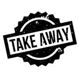 Take Away rubber stamp Stock Photography