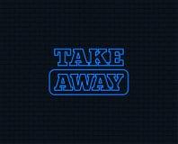 Free Take Away Sign Icon. Takeaway Food Or Drink. Stock Image - 122732181