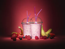 TAKE AWAY SMOOTHIES AND FRUIT - Stock Image royalty free stock image