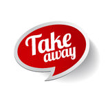 Take away sticker label Stock Photos