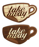 Take away stickers. Stock Image