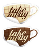 Take away stickers. Royalty Free Stock Image