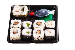 Take away sushi box Stock Photos