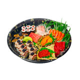 Take away sushi express on plastic tray Stock Images