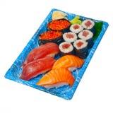 Take away sushi express on plastic tray Stock Photos