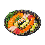 Take away sushi express on plastic tray Royalty Free Stock Photos