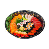 Take away sushi express on plastic tray Royalty Free Stock Image