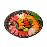 Take away sushi express on plastic tray Royalty Free Stock Photos