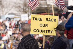 Take back our country sign. Stock Photo