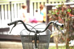 Take the bike to clear want give background Image person bei Stock Photos