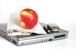 Take a break!. Need a break? Why not a fresh red apple Stock Image
