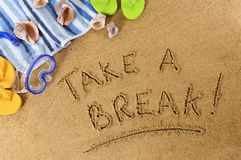 Take A Break beach vacation Royalty Free Stock Images