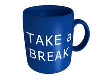 Take a break coffee cup Stock Image
