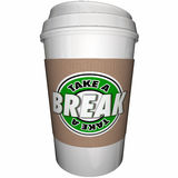 Take a Break Coffee Cup Relax Rest. 3d Illustration Stock Photo