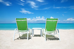 Take a break on paradise beach Royalty Free Stock Images