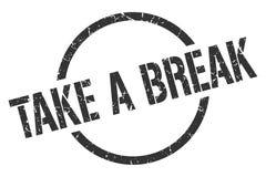 take a break stamp stock image