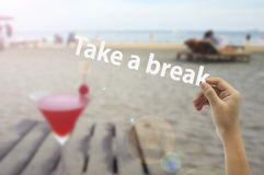 Take a break Royalty Free Stock Image