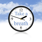 Take a breath. You have to take a breath in your life Royalty Free Stock Image