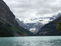 Take a breath seeing the gorgeous Lake Louise royalty free stock images