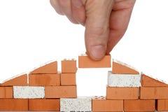 Take a brick Royalty Free Stock Image
